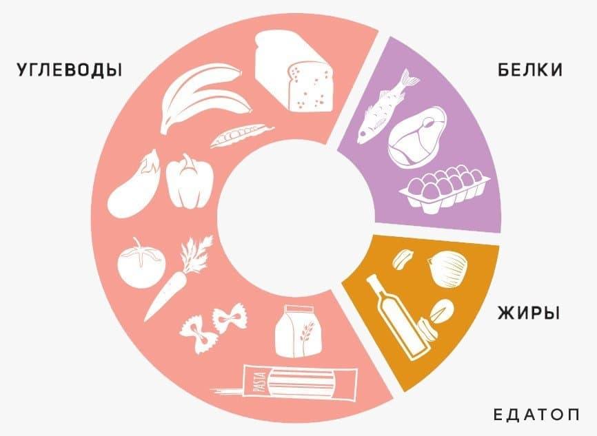 Соотношение белков жиров и углеводов.