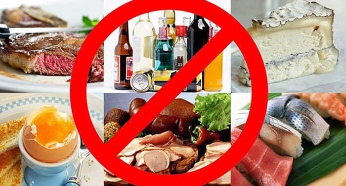 Запрещенные продукты при отеках.