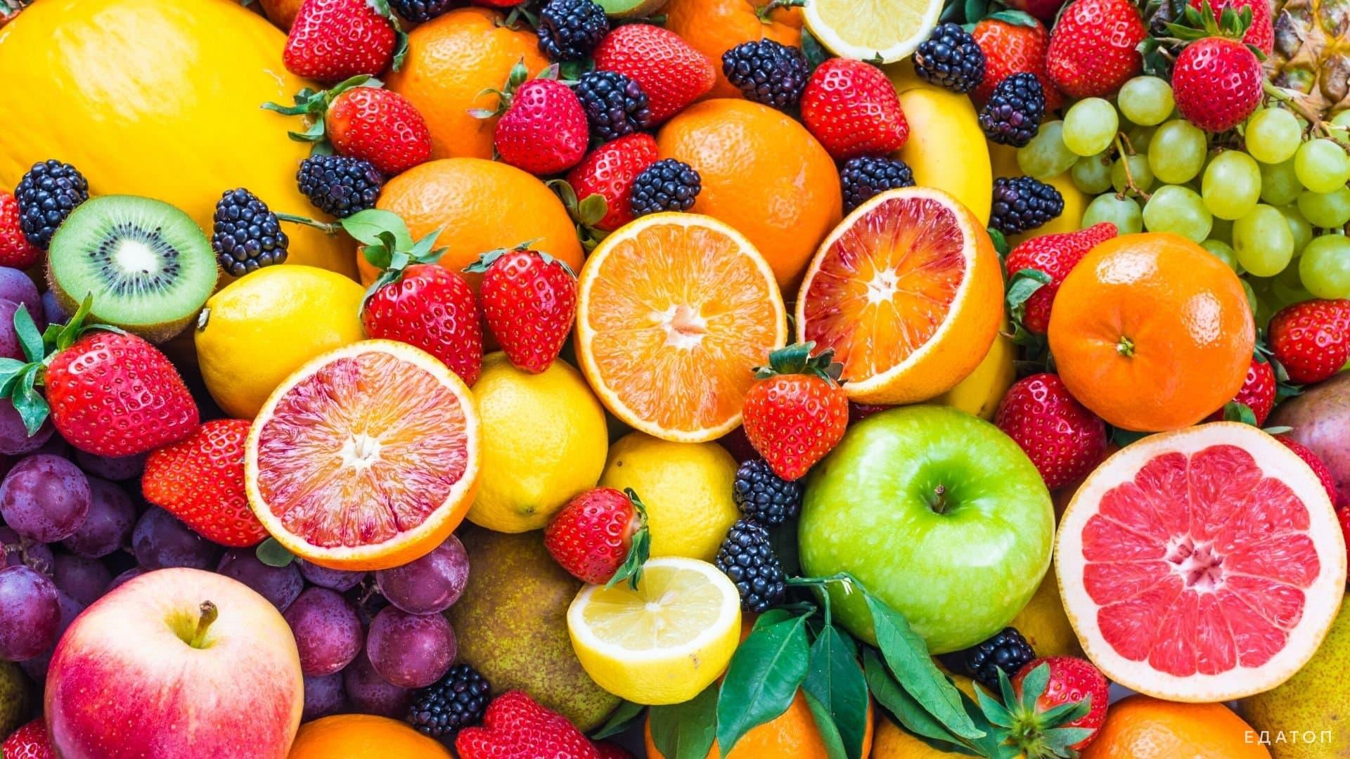 Разрешенные фрукты при диете.