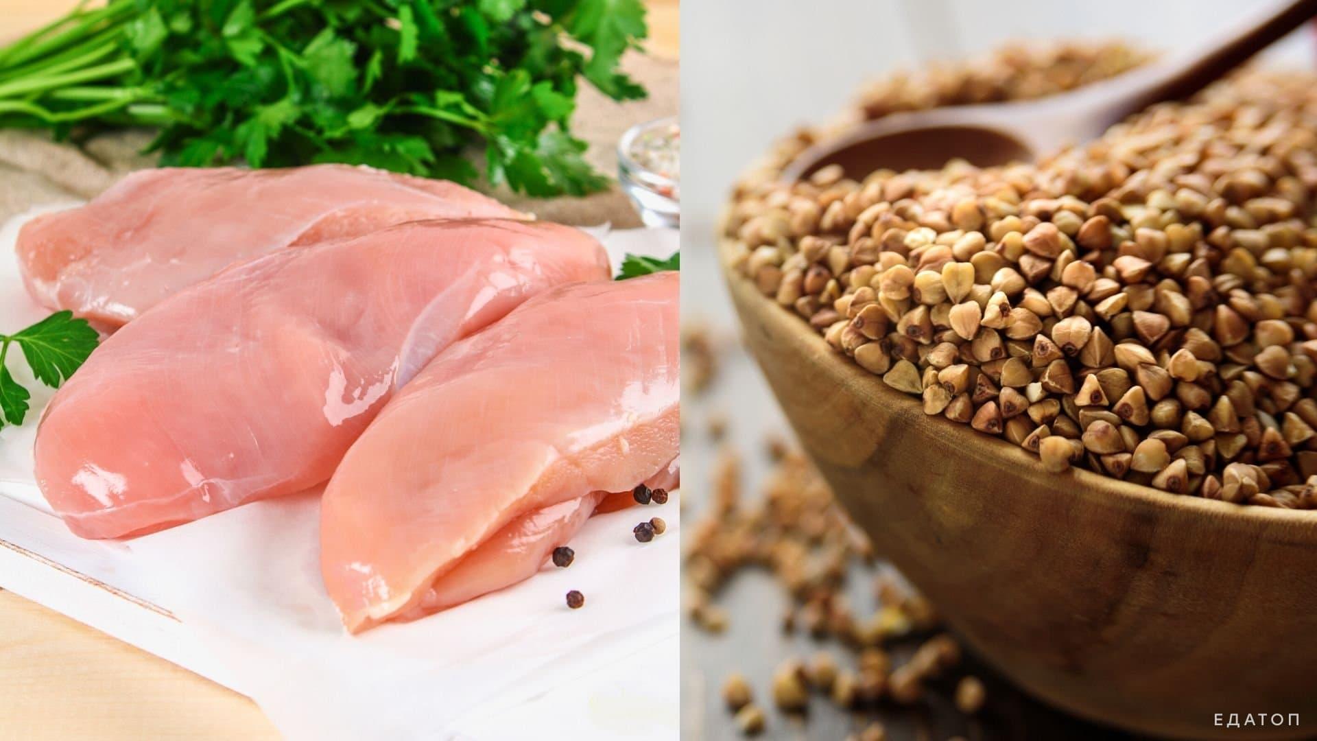 После проведения операции гречневую кашу и куриное филе на пару разрешено включить в рацион.
