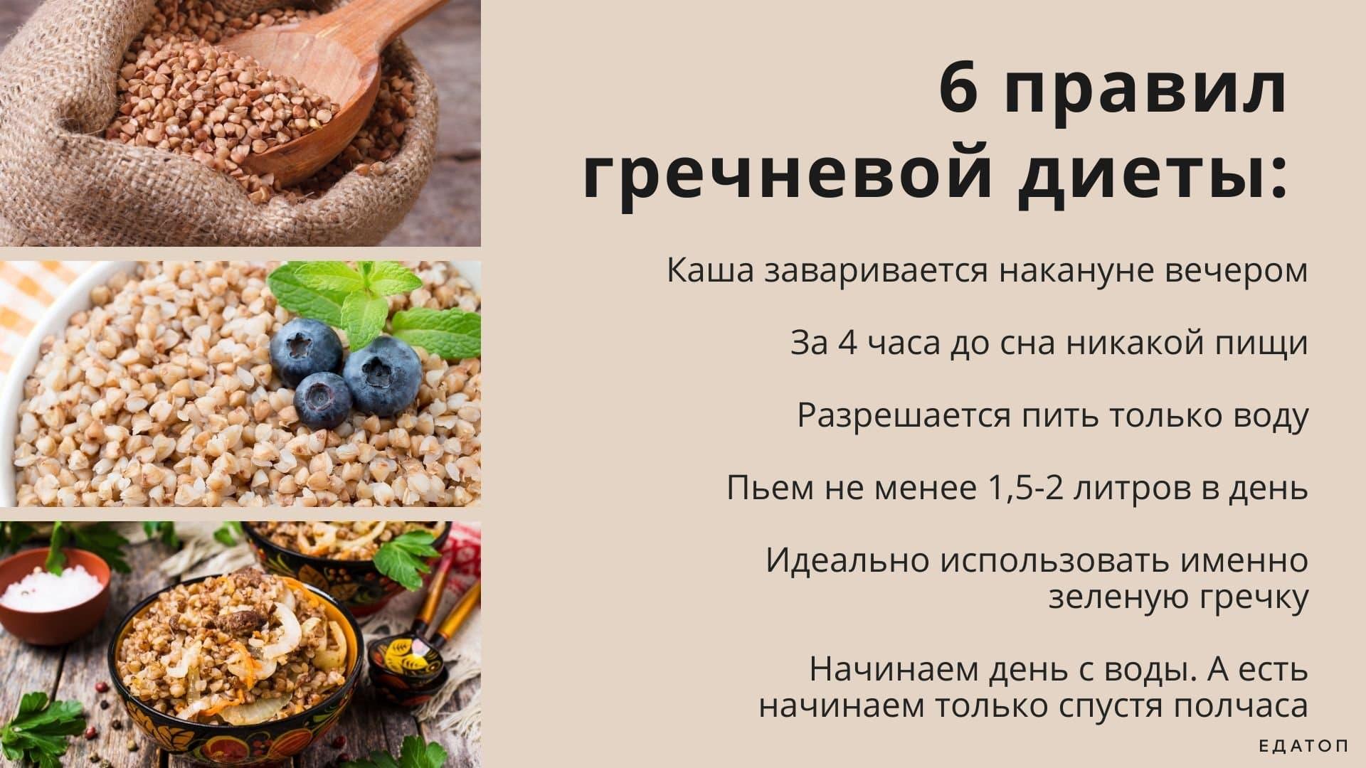 Правило гречневой диеты
