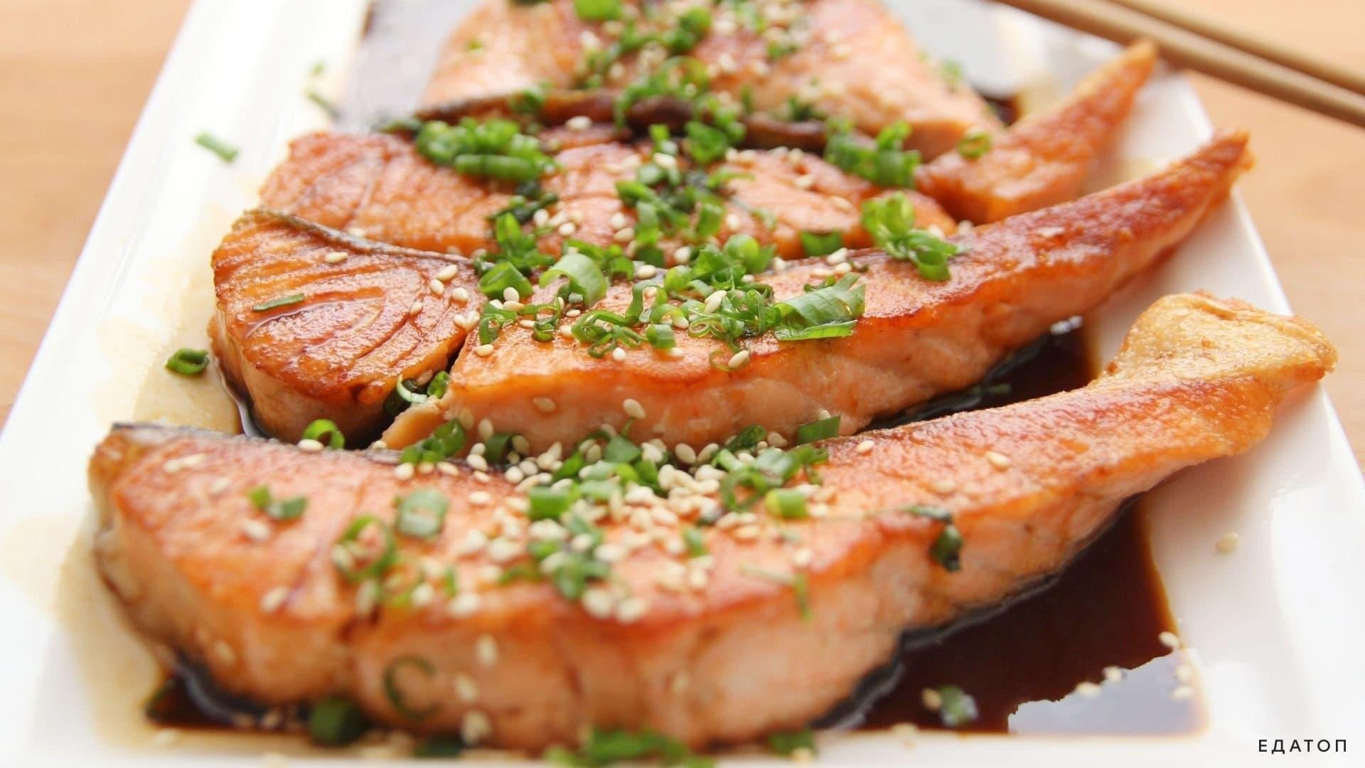 Рыба богата белками