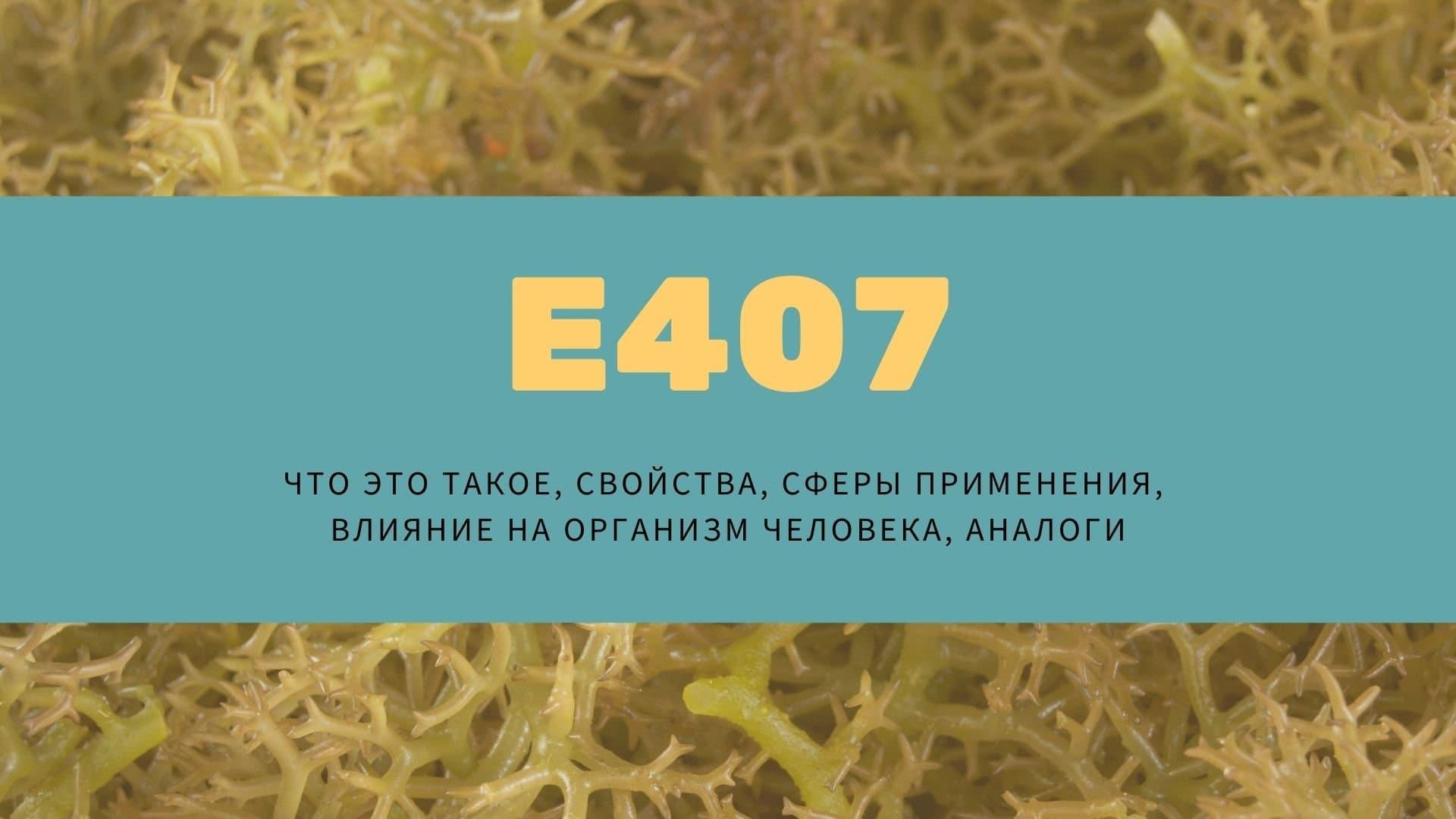 Е407: что это такое, свойства, сферы применения, влияние на организм человека, аналоги