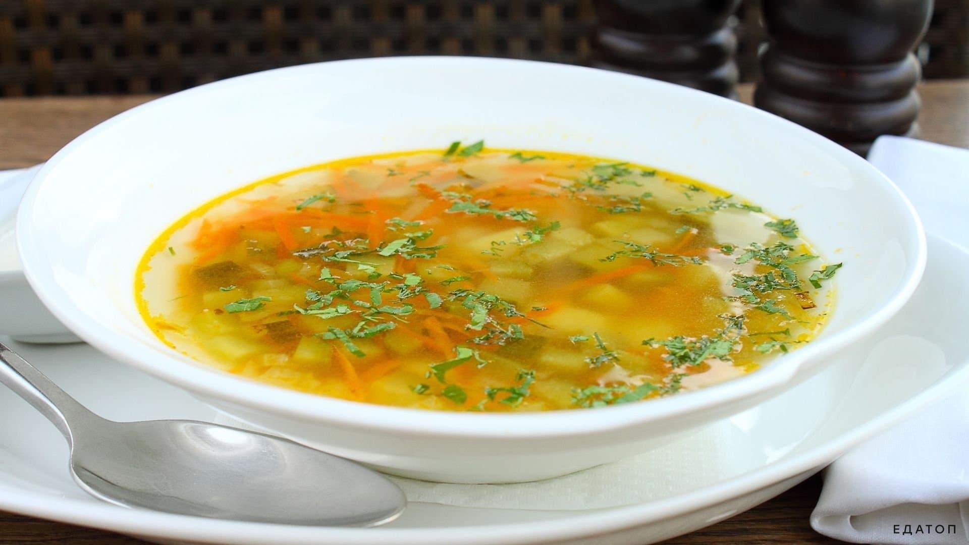 Пикантный суп рассольник.