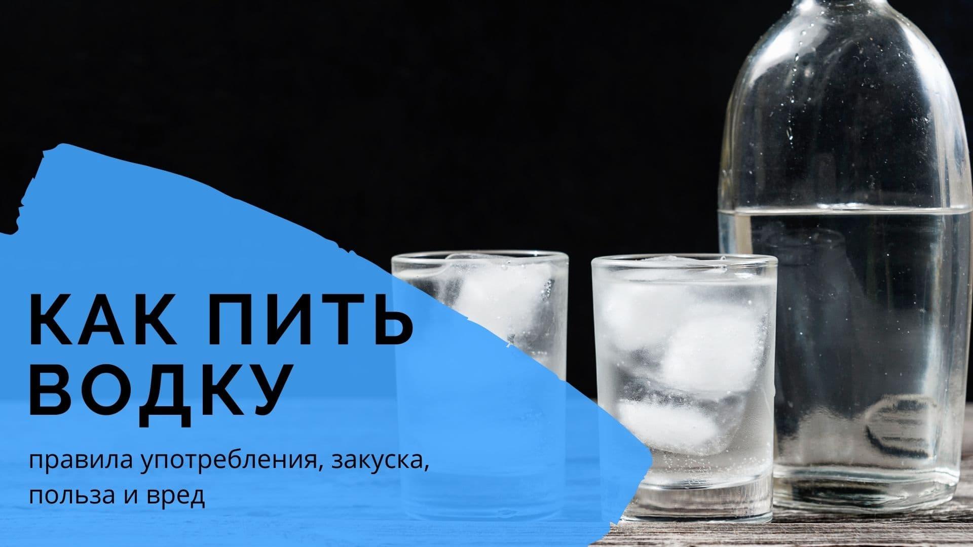 Как пить водку: правила употребления, закуска, польза и вред