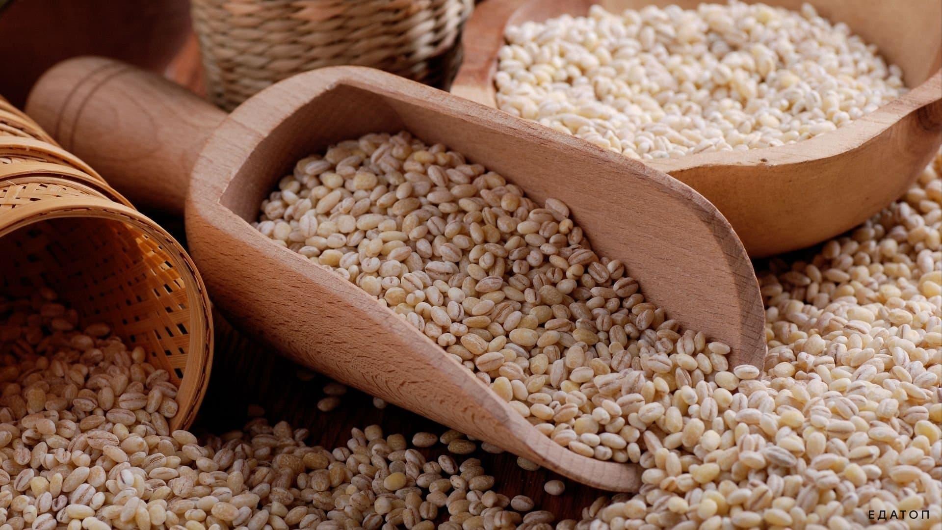 Перловка представляет собой очищенные зерна ячменя.