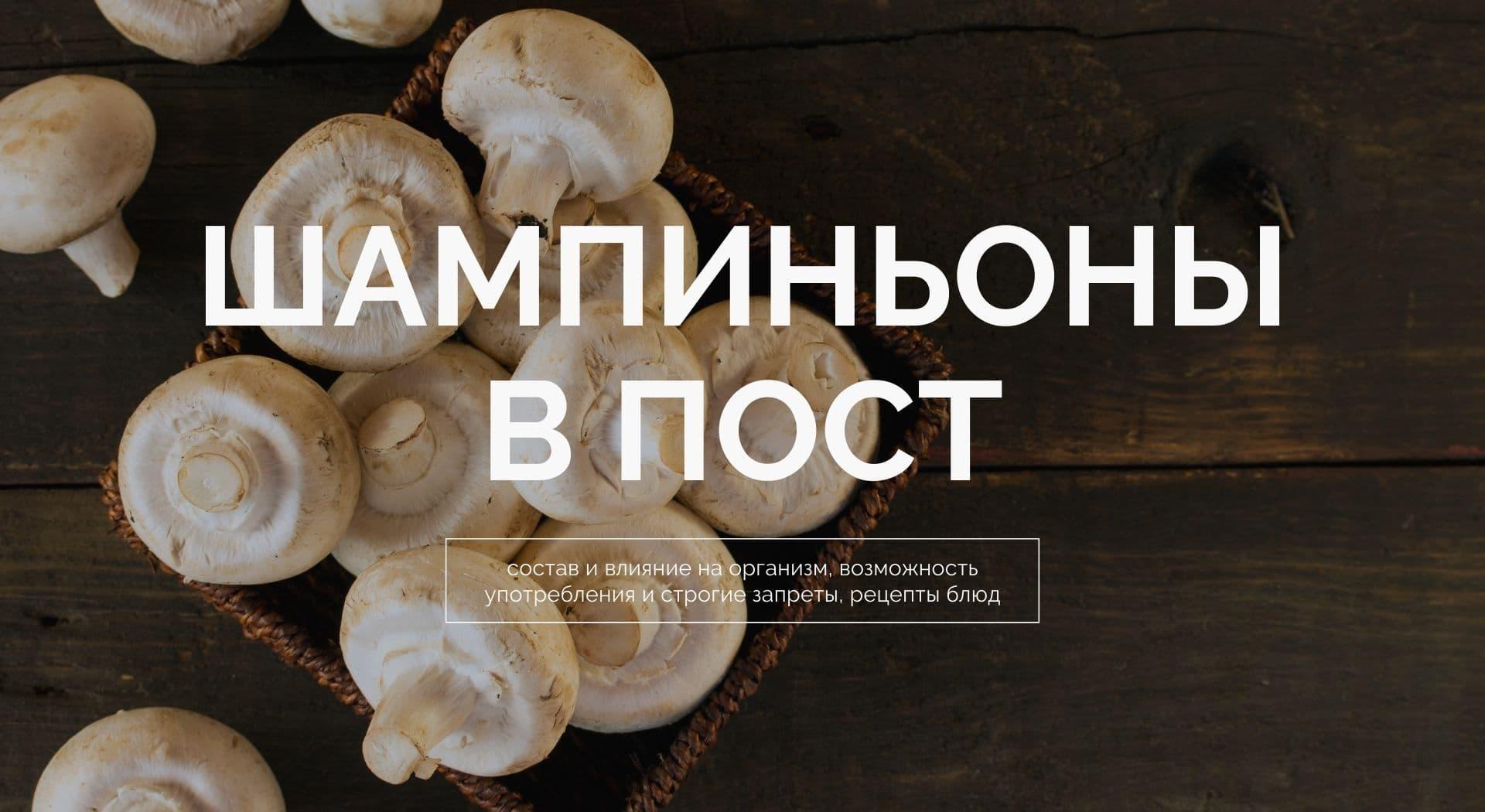 Шампиньоны в Пост: состав и влияние на организм, возможность употребления и строгие запреты, рецепты блюд