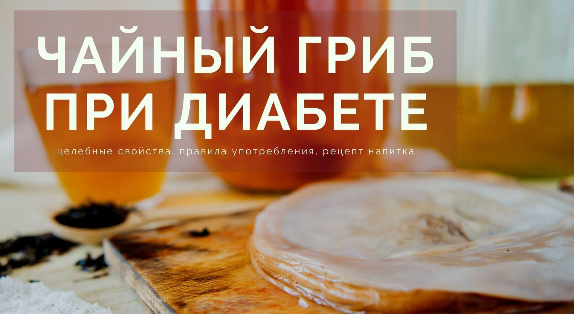 Чайный гриб при диабете: целебные свойства, правила употребления, рецепт напитка