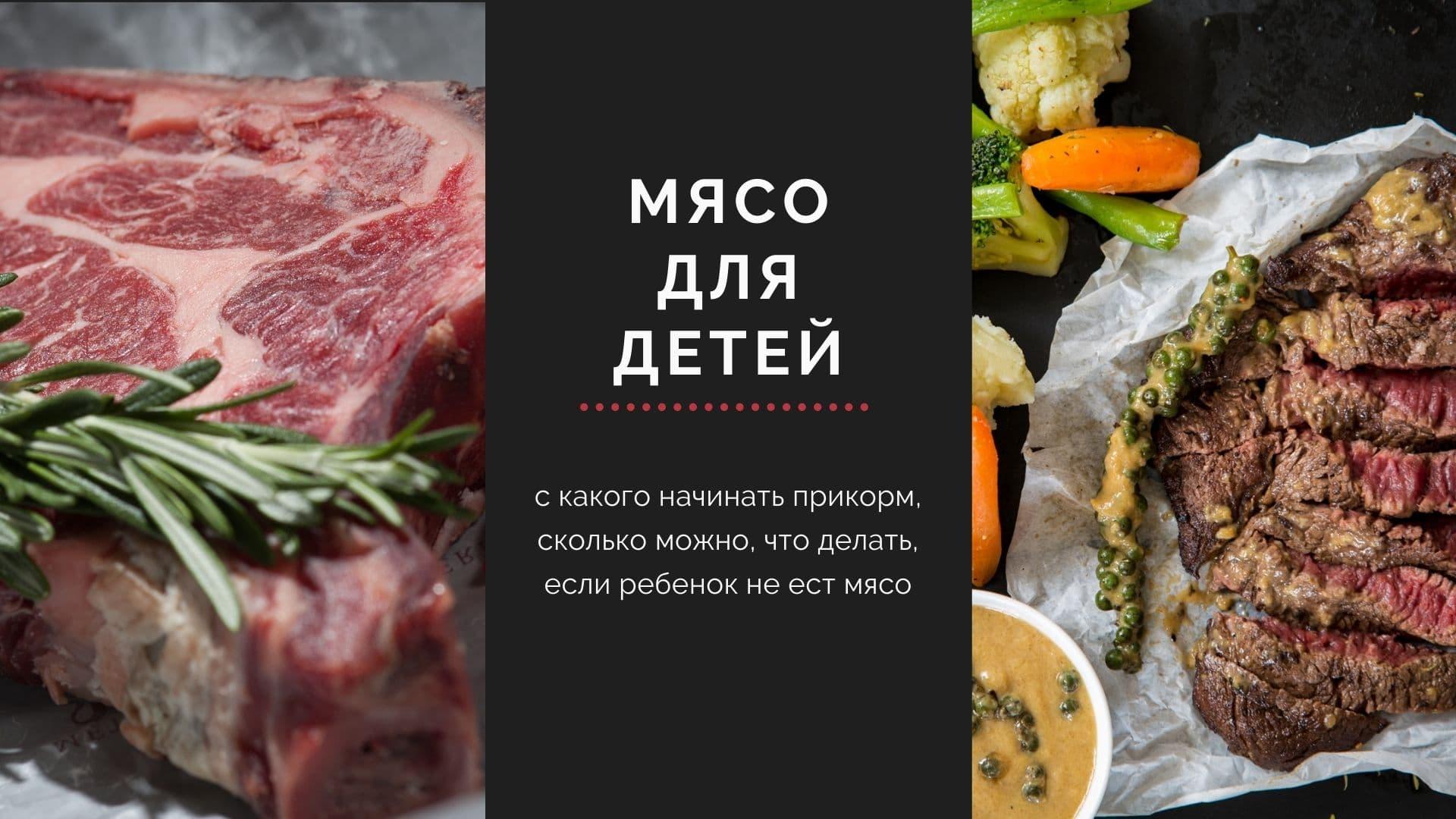 Мясо для детей: с какого начинать прикорм, сколько можно, что делать, если ребенок не ест мясо