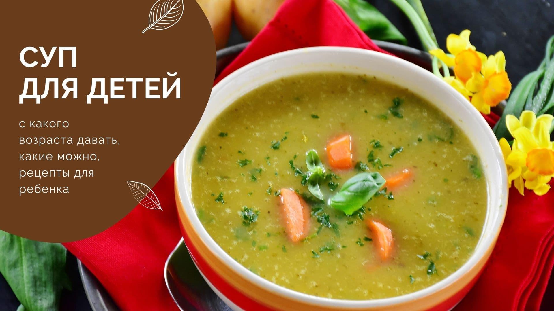 Суп для детей: с какого возраста давать, какие можно, рецепты для ребенка